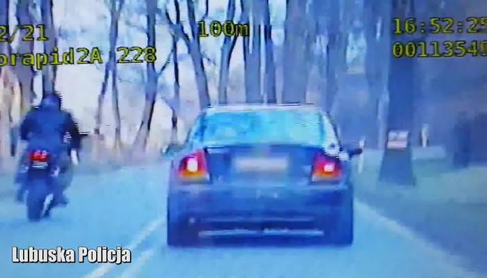 lubuska policja ucieczka motocklem w terenie z