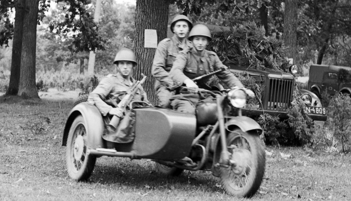 Motocykl K 750 w akcji z
