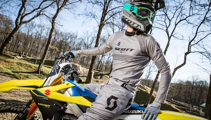SCOTT 450 Angled Light - przewiewny zestaw do motocross, koszulka, spodnie, rękawiczki
