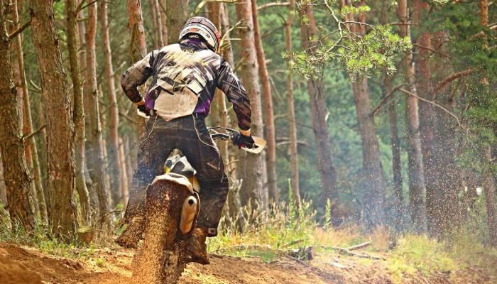 Jazda motocyklem po lasach może być legalna. Wypełnij ankietę Lasów Państwowych