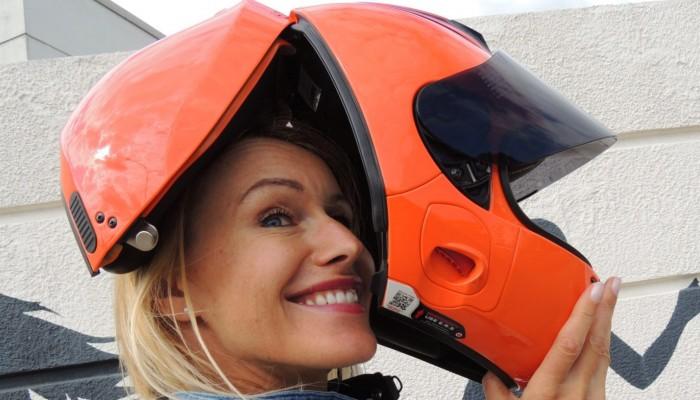 kask motocyklowy z