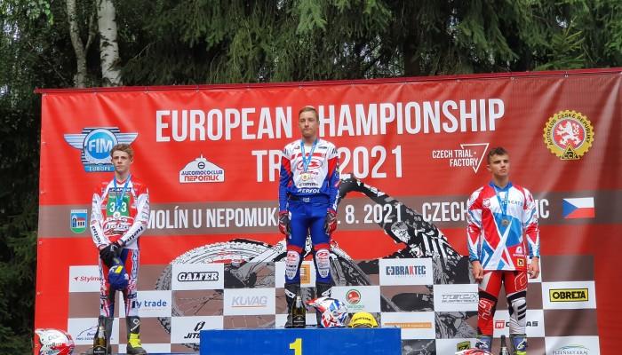 Miłosz Żyznowski na podium Młodzieżowych Mistrzostw Europy w Trialu