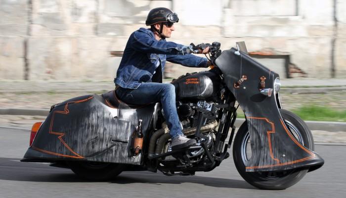Harley Davidson Sportster 1200 Led Sled custom z