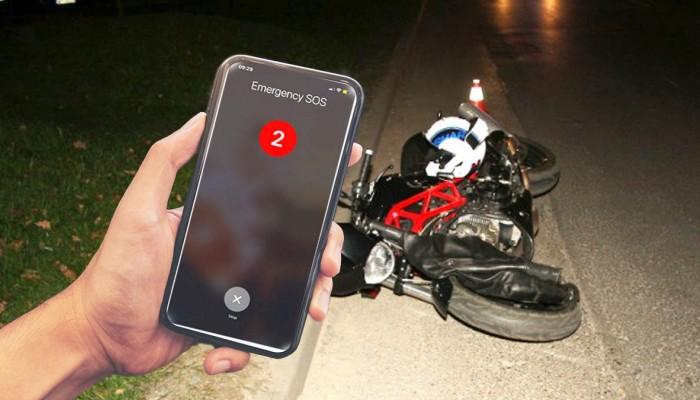 apple emergency sos ratuje motocykliste po wypadku z
