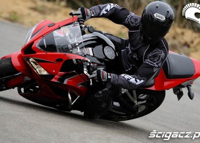 kontrolowanie stopnia pochlania motocykla
