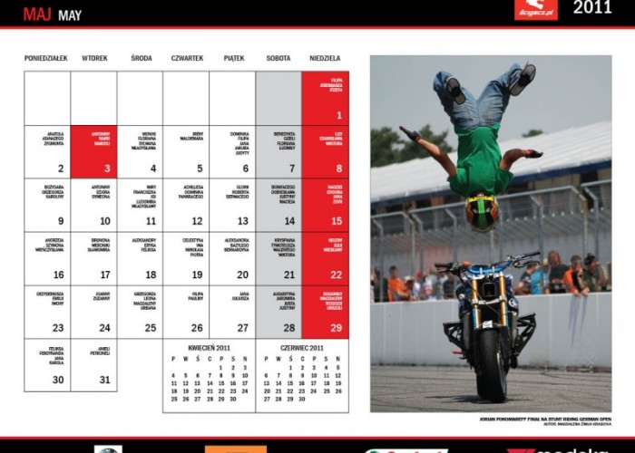 11 Maj Jorian Ponomareff kalendarz