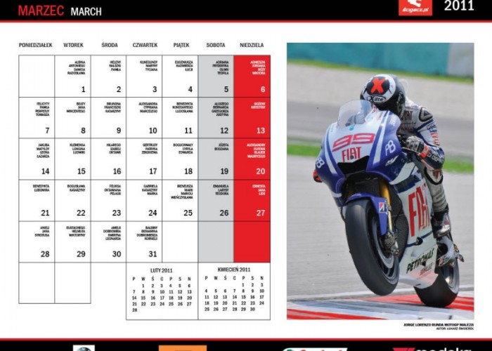 7 Marzec kalendarz Jorge Lorenzo