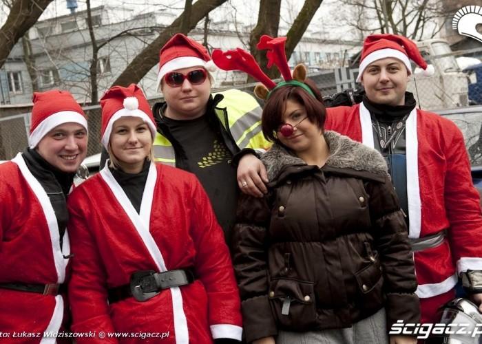 grupka mikolajow motomikolajki w warszawie 2009 lucas