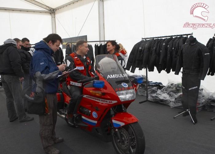 motocykl ambulans rozpoczecie sezonu 2008 a mg 0409