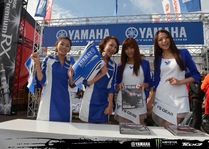 Yamaha squad paddock girls motegi