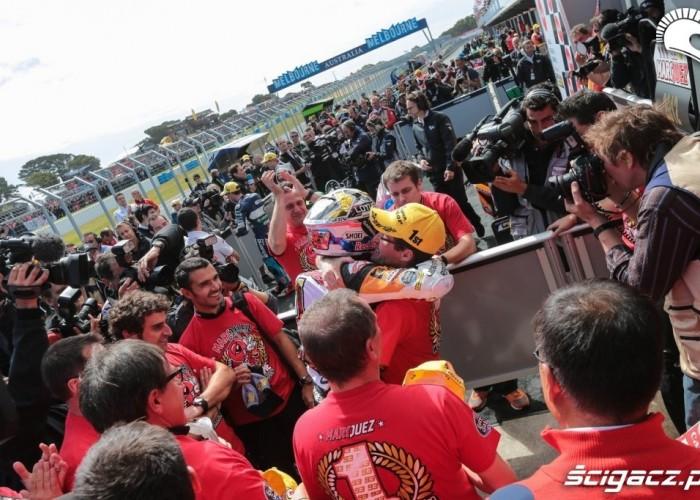 Marc Marquez 2012 paddock