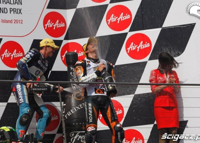Marc Marquez 2012 podium