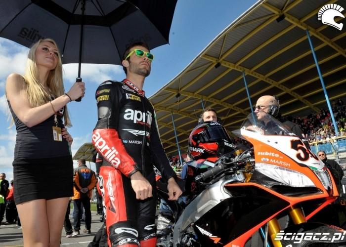 Dziewczyna z parasolka World Superbike Assen