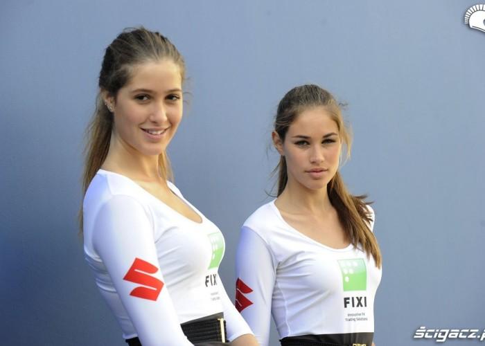Dziewczyny Fixi Suzuki World Superbike Portimao 2013