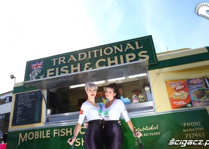 Fish chips World Superbike Donington 2013
