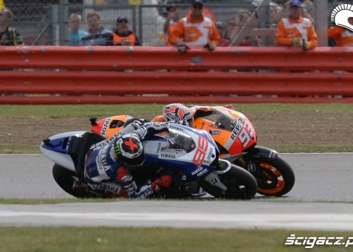 Marquez Lorenzo Grand Prix Silvestone 2013