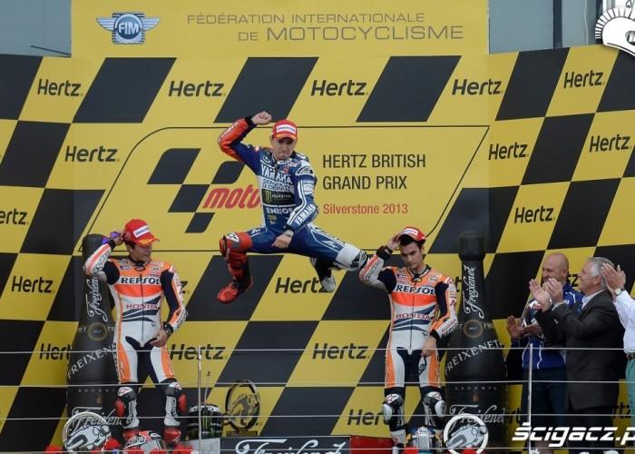 Podium MotoGP Silvestone 2013