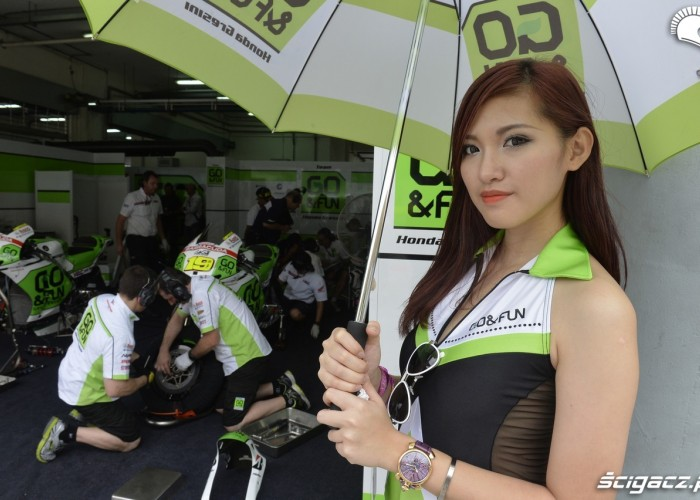 z parasolem
