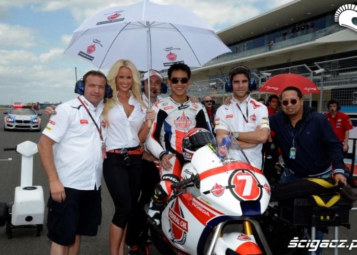 Linia startowa Grand Prix of Americas Austin 2013