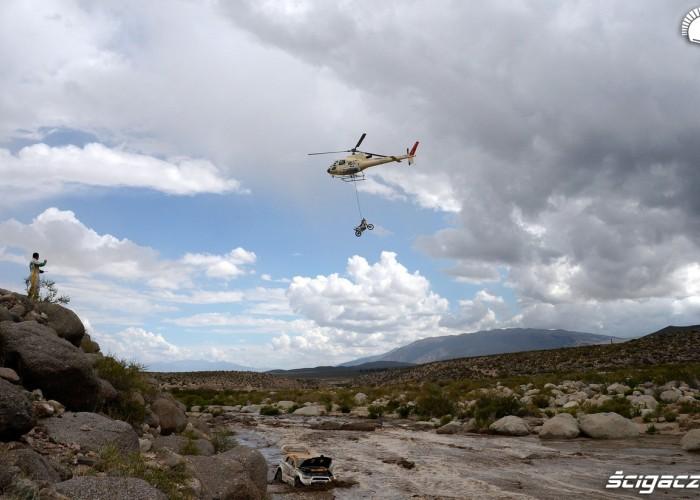 motocykl helikopter