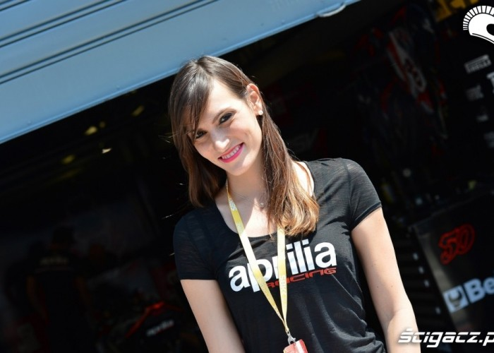 Dziewczyna Aprilia WSBK Monza 2013