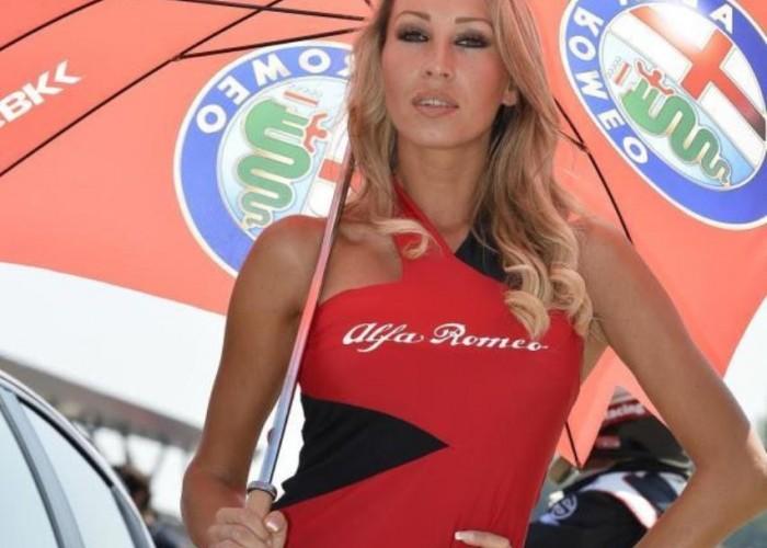 Alfa Romeo dziewczyny World Superbike Imola 2013