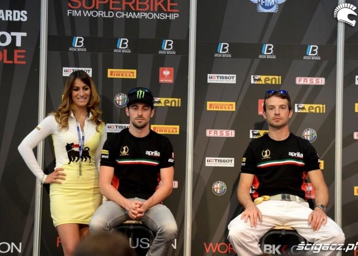 Laverty i Guintoli dziewczyny World Superbike Imola 2013