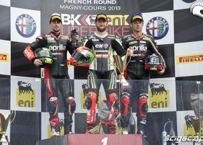 Podium SBK Magny Cours