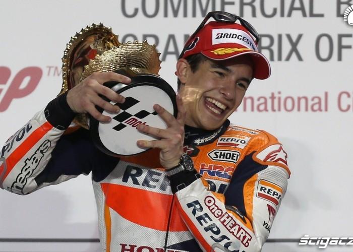 Marquez z trofeum