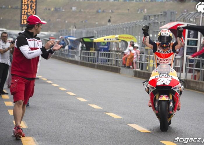 dani pedrosa gratulacje motogp japonia 2015
