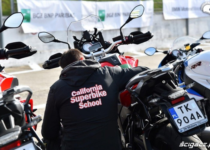 Kontrola motocykli California Superbike School Poznan