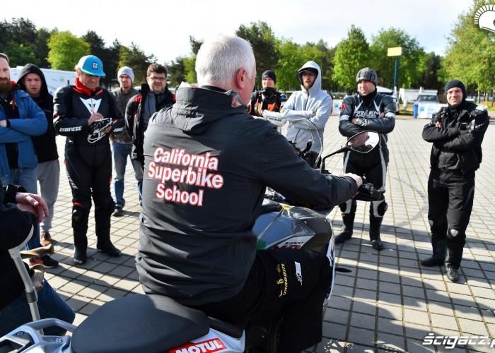 Zimny poranek California Superbike School Poznan