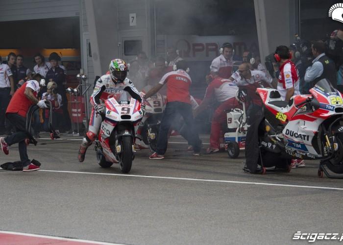 MotoGP Sachsenring 2016 zmiana motocykla