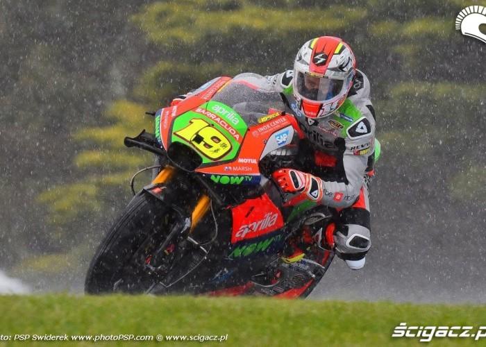 Grand Prix Australii 2016 deszcz bautista