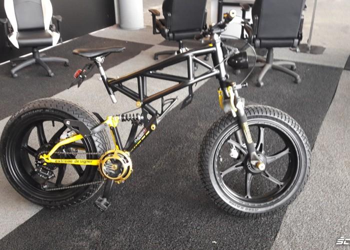 rower z kratownicowa rama