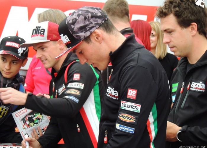 MotoGP Sachsenring Aleix Espargaro Sam Lowes Aprilia Gresini 1