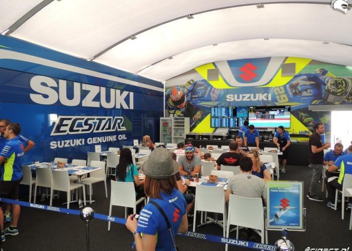 MotoGP Brno 2018 Ecstar Suzuki Hospitality 1