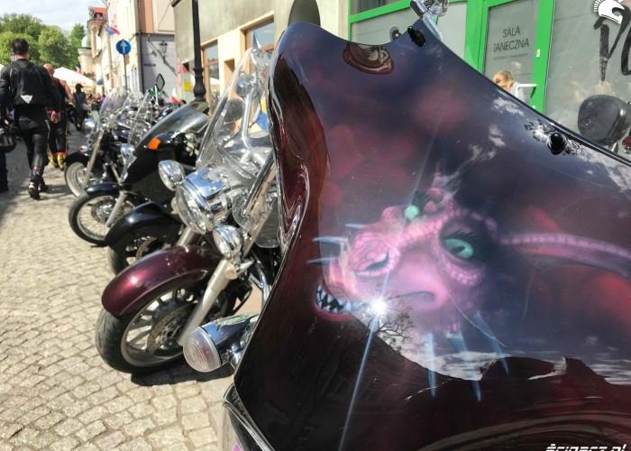 Smok na motocyklu na Motoserce w Pszczynie 2018