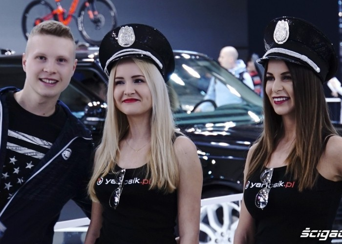 yanosik hostessy poznan motor show 2018