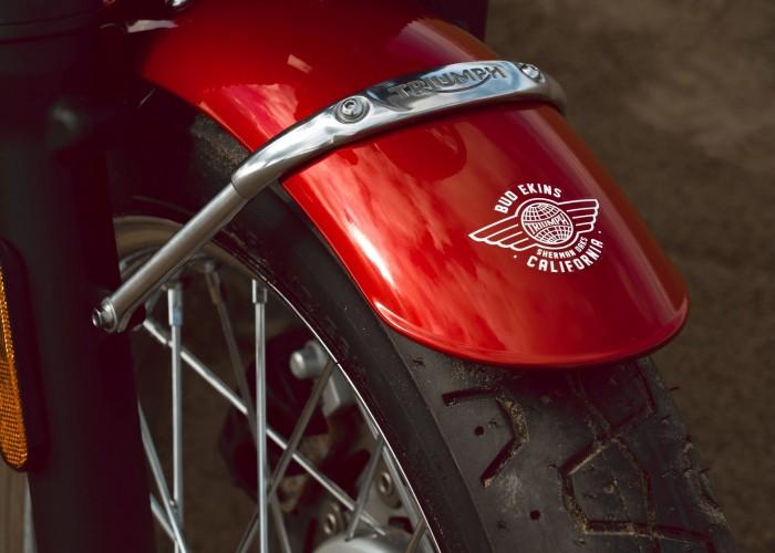 Triumph Bonneville Bud Ekins blotnik logo