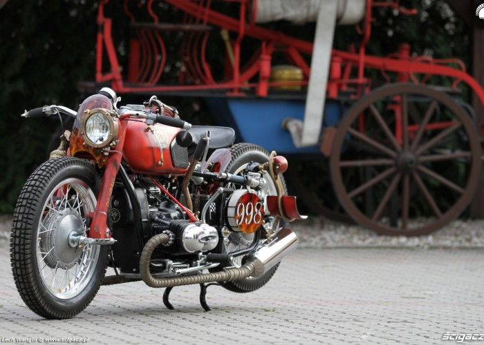 07 Dniepr K650 Fire Bike custom