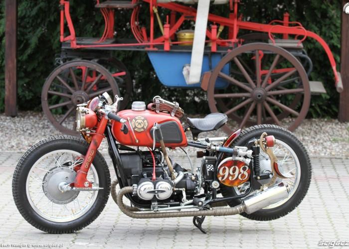 17 Dniepr K650 Fire Bike custom