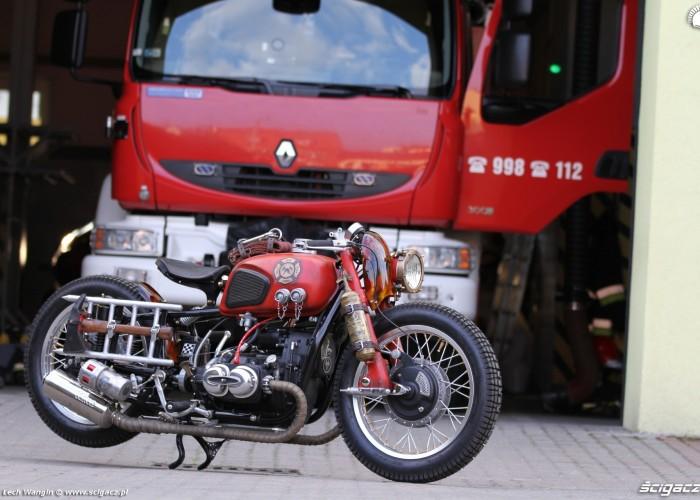 19 Dniepr K650 Fire Bike straz pozarna