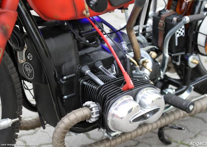 21 Dniepr K650 Fire Bike silnik