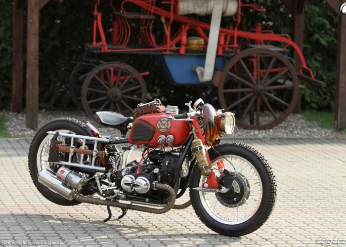 36 Dniepr K650 Fire Bike custom czerwony
