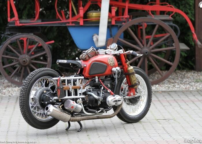 36 Dniepr K650 Fire Bike custom dla strazaka