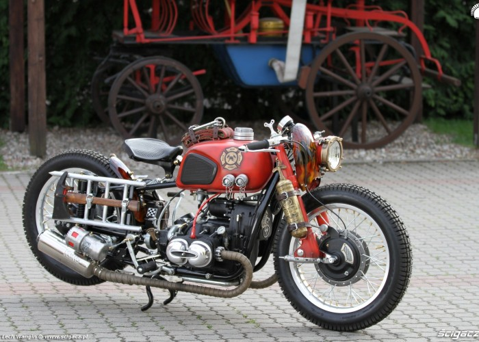 36 Dniepr K650 Fire Bike custom straz