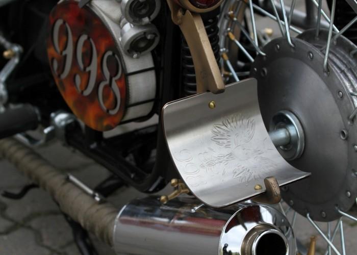 39 Dniepr K650 Fire Bike custom