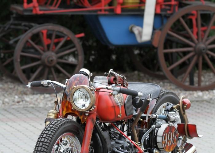 49 Dniepr K650 Fire Bike custom