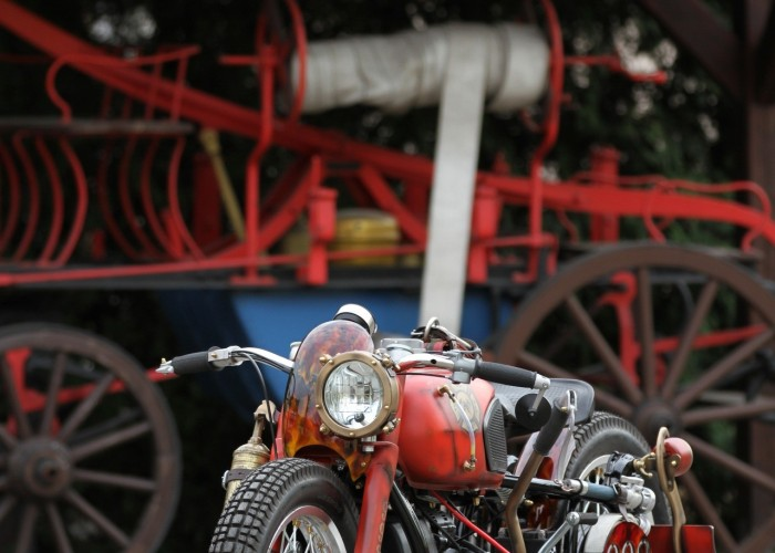 50 Dniepr K650 Fire Bike custom